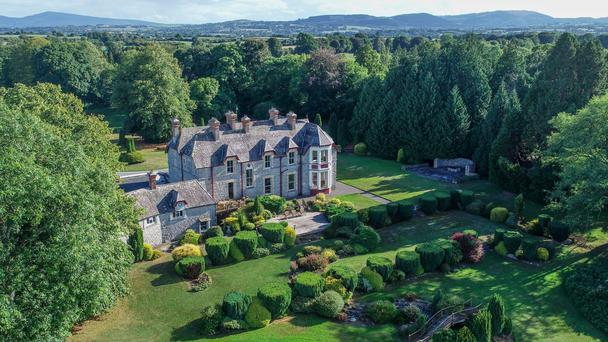 The 19th-century residence in High Victorian Gothic splendour sitting on 25ac of lakeside lands is on the private treaty market with a guide price of €2.65m