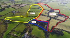 The 91ac farm at Blackwater, between Enniscorthy and Wexford