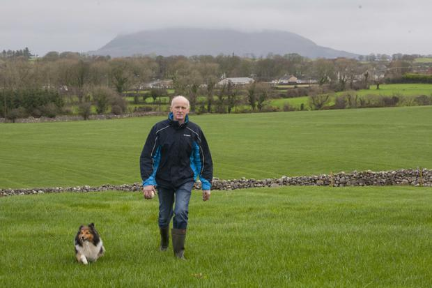 Philip with his dog, Pippa. Photo: Brian Farrell