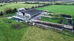 The yard of the 177ac holding at Aghamore near Kinnegad could do with some tidying and modernisation but is nevertheless a strong basis for a good farming operation.