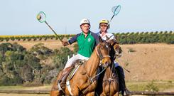 Stephen Nuzum competing in a test match in South Africa last year. Photo: Shannon Gilson