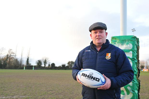 Tullow RFC team manager Tom Nolan. Photo: Roger Jones