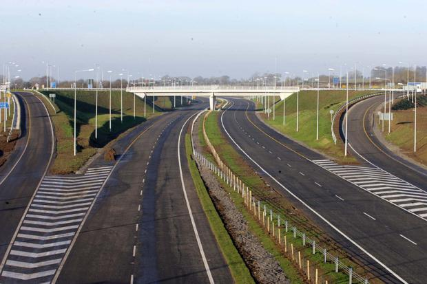 A view of the M4/ M6 Kilcock to Kinnegad Motorway which opened in 2006 PHOTO: Tom Burke