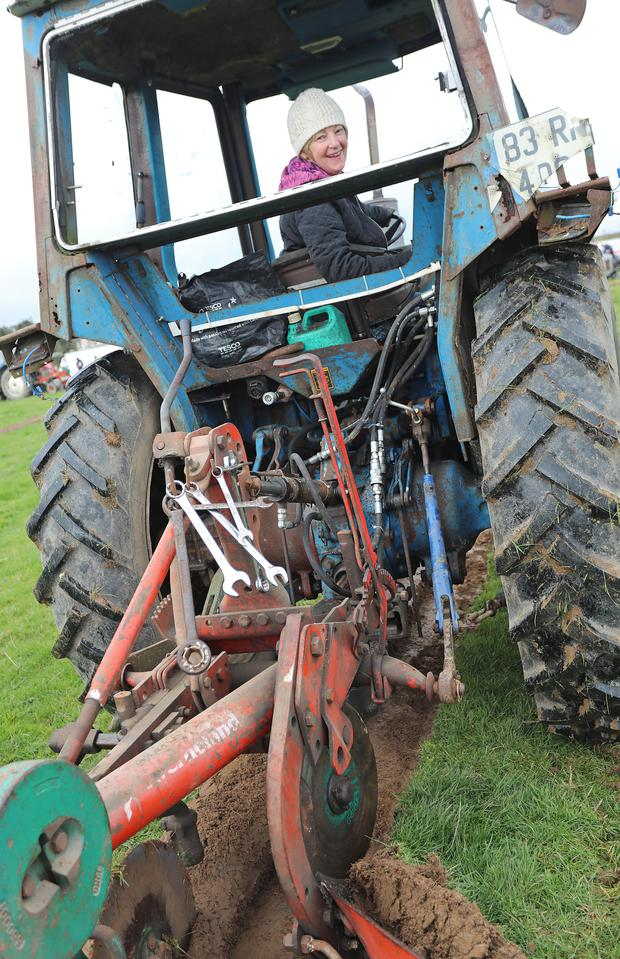 Pauline Lavin from Roscommon at the County Longford Ploughing Championships in Granard