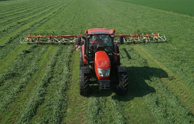 Field work such as grass mowing, tedding and raking are among obvious roles for the new-generation McCormick X5 Series tractors.