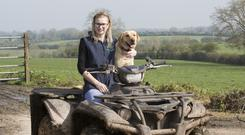 Louise Crowley with her dog Molly. Photo: Liam Burke/Press 22