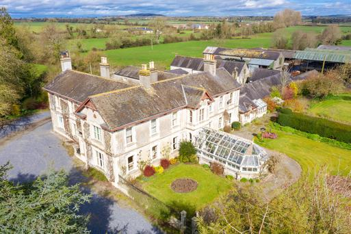 Prumplestown House in Co Kildare was built as a hunting lodge for the Dukes of Leinster. It is on the market with extensive farming facilitie