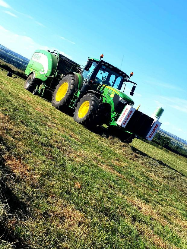 Around 10000 bales of silage are made each year thanks in part to a McHale Fusion 3 Plus.