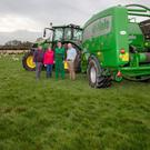 Pictured (l-r) are Cathal Swan, his wife Julie, their son Shane and David Hogan, Agri Manager at Drummonds Ltd.