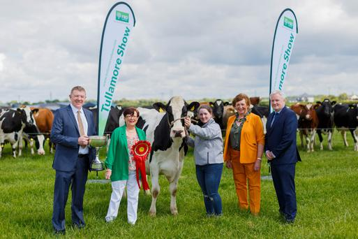 Pictured at the launch of the Tullamore Show & FBD National Livestock Show were Pat Gilligan, FBD Head of Customer Engagement; Brenda Kiernan, Chairperson Tullamore Show; Aisling Neville; Tullamore Show Operations Manager Freda Kinnarney and John Cahalan, FBD Chief Commercial Officer