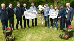 Decades of success: Paddy McCarthy, Patrick Gaynor, Alymer Power, Paul Hennessy, Paddy McCarthy, Henry O'Keeffe, host farmer, Liam O'Keeffe, Marie O'Keeffe, Julia O'Keeffe, Mossie O'Keeffe, and Charles Gallagher, CEO, IHFA at the launch of the Open Day.