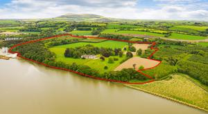 Riverside: Stokestown House is located near New Ross and is bounded by woodland that sweeps down to the River Barrow