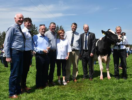 Top brass: Ireland South MEP, Sean Kelly who performed the official opening of the IHFA Open Day with Patrick Gaynor, President IHFA; Henry and Marie O'Keeffe; Charles Gallagher, CEO, IHFA, and Sean Crowley, Cork IHFA Club.