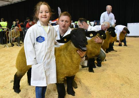 Show stoppers: Chloe McLaughlin and her dad, Ronan from lnnishowen, Co Donegal with their Ewe Lamb Class winner