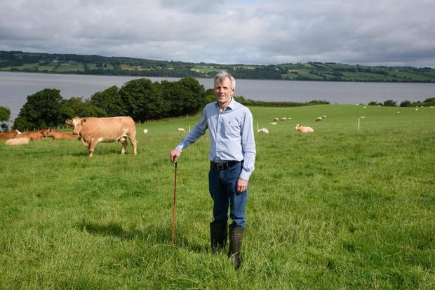 Brendan McLaughlin on his farm in Donegal. Photo: Clive Wasson