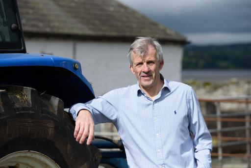 Safety warning: Brendan McLaughlin on his farm outside Manorcunningham in Donegal. Photo: Clive Wasson