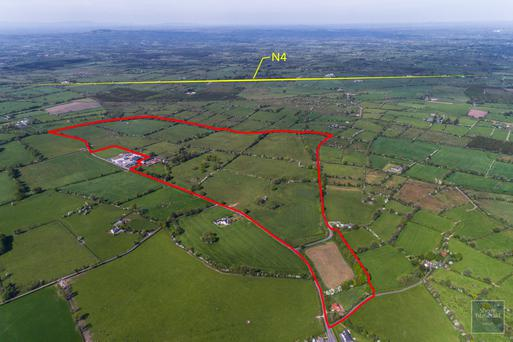 Potential: The 180ac holding near Ardagh, Co Longford comes with extensive road frontage of several hundred metres on to two local roads