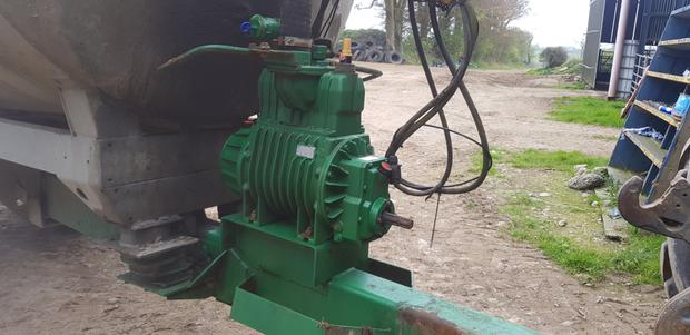 1. The pump in this case is a Battioni MEC 8000 litre pump. It's a common pump and parts are readily available.