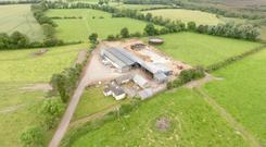 The dairy farm property in Meath
