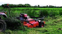 Licking method, using a tractor or quad, has the advantage of being applied primarily to the target plant - rushes or other tall weeds.