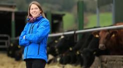2018 Farmer of the Year Gillian O'Sullivan pictured on her farm in Dungarvan, Co Waterford. Photo: Gerry Mooney