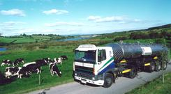 Road to riches: The 800m litres of milk sent south for processing is worth £190m to to the North's economy