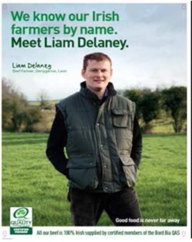 Liam Delaney in a poster campaign for Irish beef that was used by McDonald's in 2012