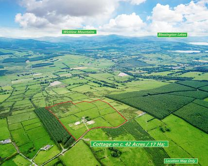 Spectacular views: the 42ac farm near Kilteel in Co Kildare is made up of good elevated grazing ground laid out in eight fields