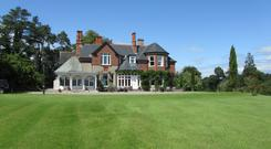 Palatial spread: The 9,000 sq ft residence is 7km from Cahir and stands on 100ac, which is split into 60ac of farmland, 20ac of forestry and 20ac in riverside grassland