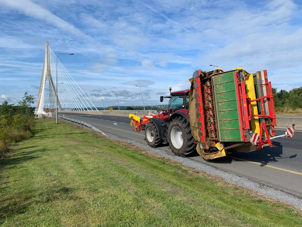 Pottinger's Novcat A10 treble mower combination has been on demonstration all over the southeast this summer, hooked up to a McCormick X8 tractor (pictured).