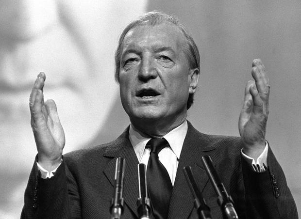Deal: Former Taosieach Charles Haughey was Minister for Agriculture in 1966 when he helped broker the Anglo-Irish trade agreement which dramatically increased Irish carcass beef exports to Britain