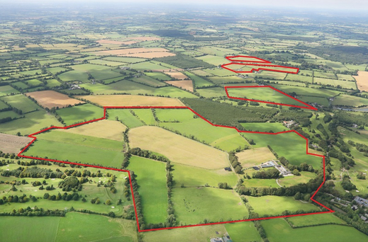 The land is in four parcels