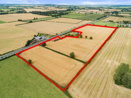 Staying local: This 20.6ac piece of arable land at Prumplestown near Carlow town sold for €450,000 to a local buyer