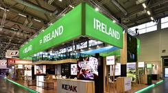 Competition: One of the Irish stands under the Bord Bia banner at the Anuga Food Fair in Cologne