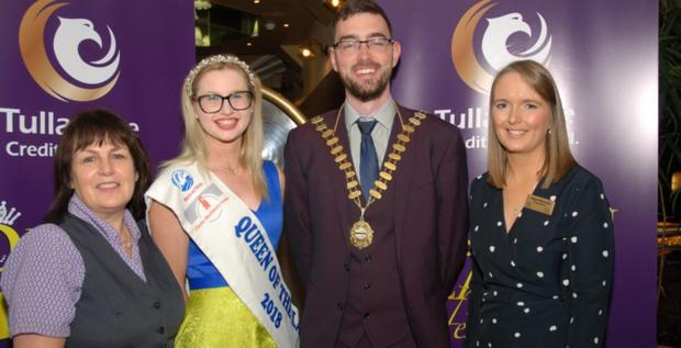 Launch night: Queen of the Land 2018 Louise Crowley and Macra president Thomas Duffy with sponsors Mary Hannevig and Niamh McDonald of Tullamore Credit Union at the recent launch of the festival