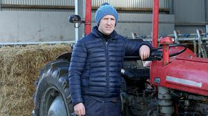 Aonghusa Fahy at his farm in Ardrahan, Co Galway