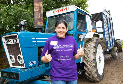 Garda Margaret Clifford from Nenagh was one of the forty women who turned out for the silage cutting event in Mount Mellary. Photo;Mary Browne