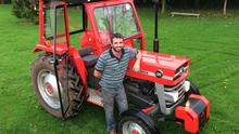 Jamie Casey with the newly restored 1973-registered Massey Ferguson 135