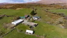 The holding comes with a traditional farmhouse and a mix of farm buildings, including a sheep house