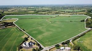 Green fields: This top quality 94 block of land located 4km from Naas goes to auction next month with a guide price of €10,000 per acre