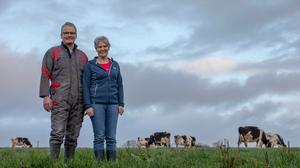Stephen Roche and his wife Marion on their dairy farm near Grenagh, Co Cork PHOTOS: CLARE KEOGH