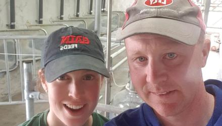 Building up a viable business: Lorraine and Aaron Delaney on their organic dairy farm in Cullohill, Co Laois