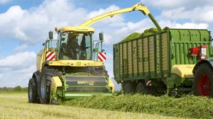 The Krone Big X harvester will participate in the world silage cutting record attempt in Trim