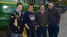 Pictured at the annual Tractor run at Lyre, Clonakilty Co Cork were local men Michael McCarthy, Peter and Christopher O'Neill and Daniel O Regan. Picture Denis Boyle