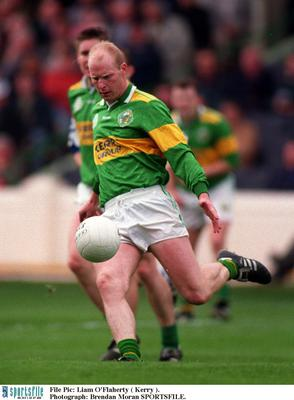 Liam O'Flaherty on the pitch for Kerry back in the day