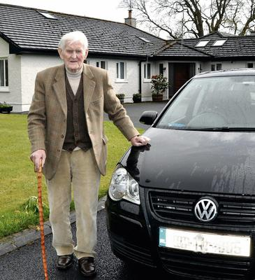 Jack Powell with his 40th Volkswagon car. He bought his first, a Beetle, 60 years ago in 1953