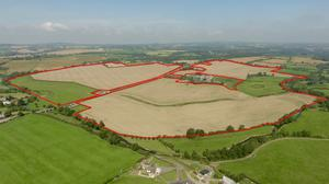 The 196ac non-residential farm at Dowth in Co Louth comes to auction next month with a guide price of €2.4m.