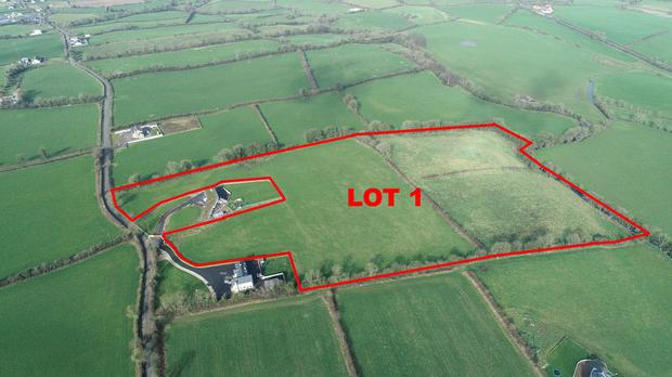 Lot 1 of a 54ac farm near Hackballscross, Co Louth – which is on the private treaty market in four lots with a total guide price close to €600,000.
