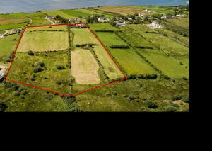 This 10ac parcel of ground at Muineagh, Linsfort included a derelict cottage and outhouses. This made €360,000 or €36,000/ac
