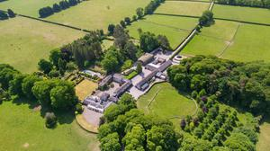 The house and yards at Eyrefield sit on 160ac of land at The Curragh